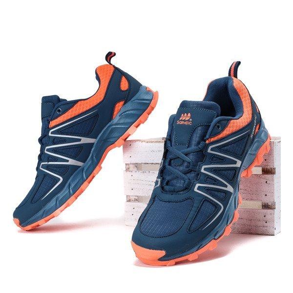 0eace860a71cd3 Granatowo-pomarańczowe męskie buty sportowe Jonas - Obuwie