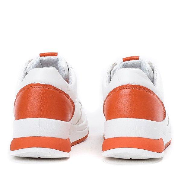 OUTLET Białe sportowe buty z żółtymi wstawkami Rothina