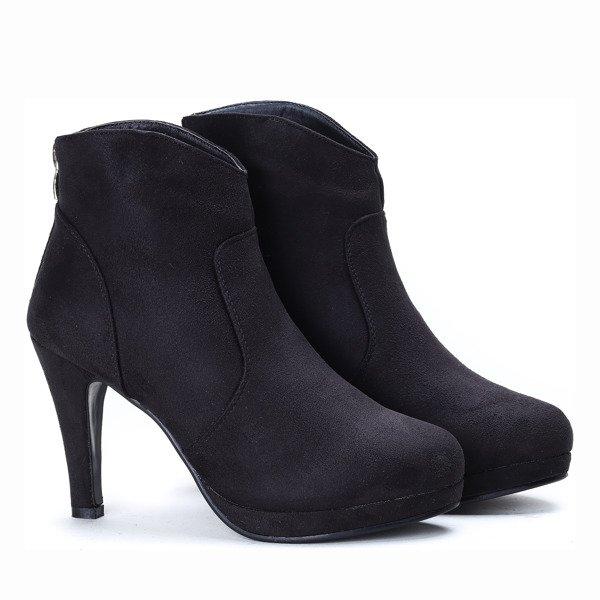 948721dbb39a4 Czarne botki na szpilce Nataly - Obuwie - | Royalfashion.pl - sklep ...