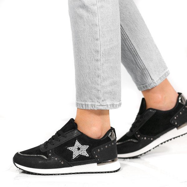 9a85d228f1ebd Czarne buty sportowe z gwiazdką Emiliana - Obuwie Kliknij, aby powiększyć  ...