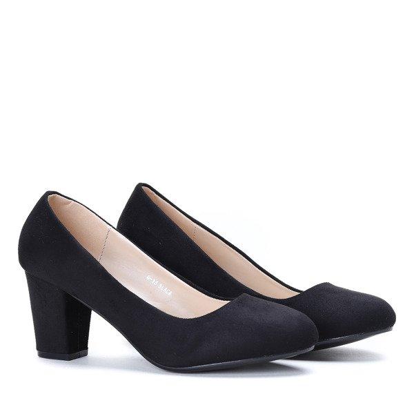 3f4fb5a4241f1 78ed50a308aa 48901de3c678 czarne czółenka na słupku czółenka obuwie sty owe  buty ... f29bb725508a Obuwie damskie skórzane modne ...
