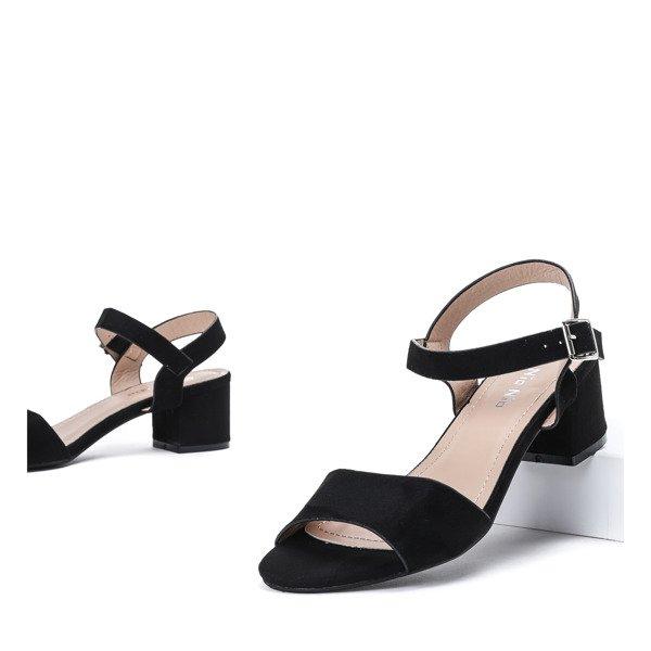 29b933a16dd8ae ... Czarne sandały na niskim słupku Nio - Obuwie Kliknij, aby powiększyć ...