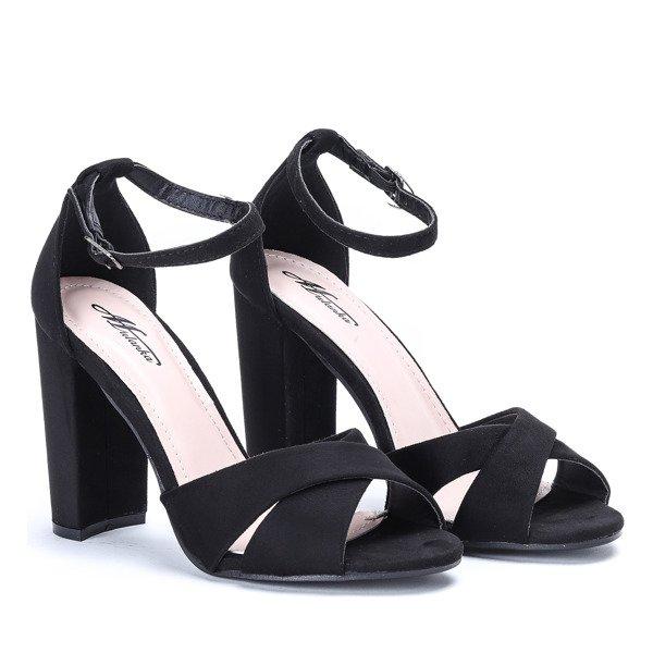 8ed357faf86752 Czarne sandały na słupku Delilah - Obuwie - Czarny | Royalfashion.pl ...