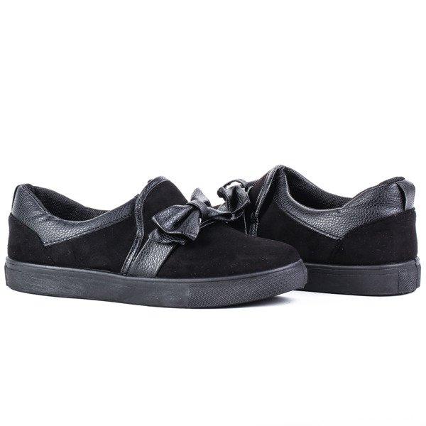487da7af9fcac Czarne, sportowe buty z kokardą Kristen - Obuwie - Czarny ...