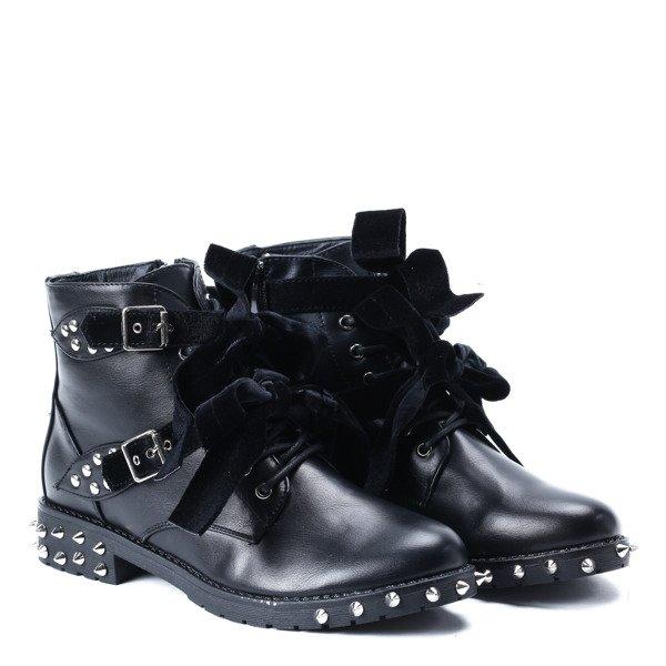 498c742d Czarne workery z ćwiekami Ceria - Obuwie - | Royalfashion.pl - sklep ...