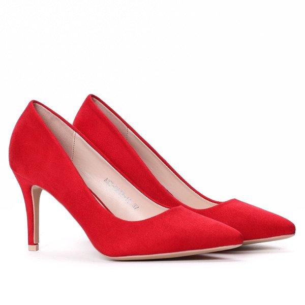 Czerwone Klasyczne Szpilki Obuwie Czerwony Royalfashion Pl Sklep Z Butami Online