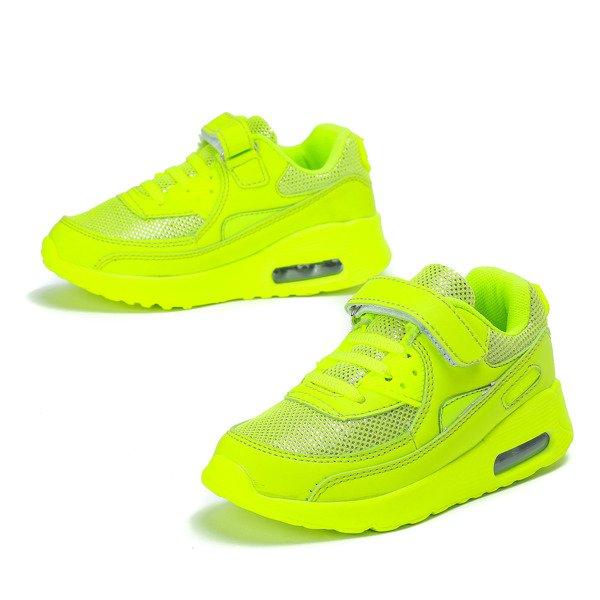 7ad51694 Neonowe żółte dziecięce buty sportowe Sally - Obuwie Kliknij, aby  powiększyć ...