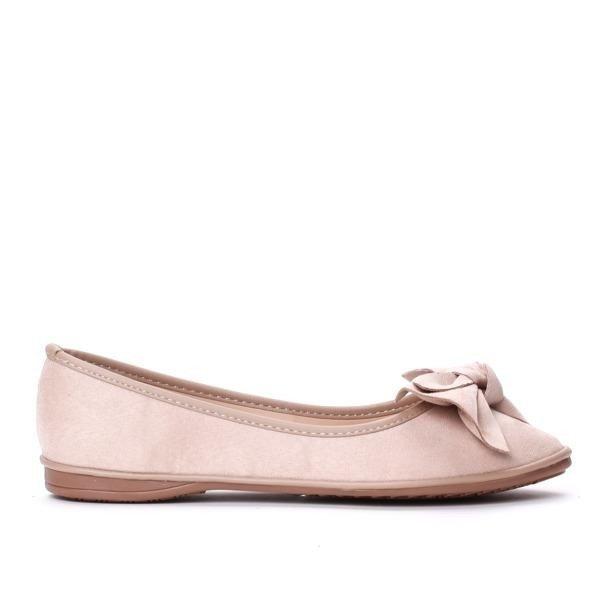 99169c55 Różowe balerinki z eko-zamszu Treja - Obuwie Kliknij, aby powiększyć ...
