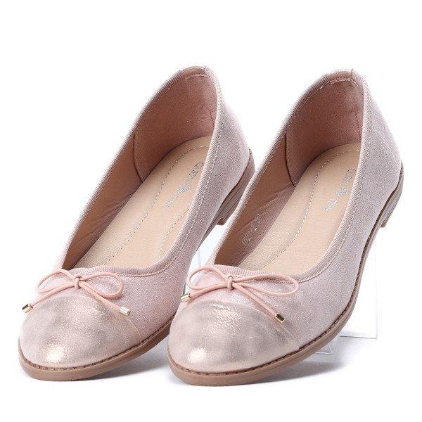 6d689c7ed5ce Różowe baleriny z kokardką Mia - Obuwie - Różowy