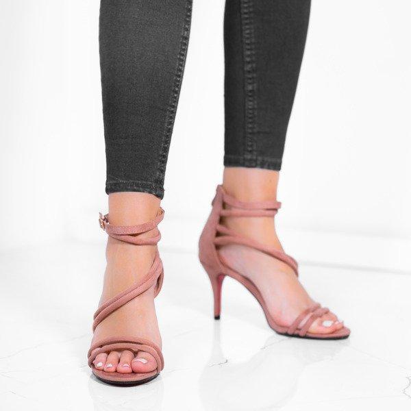Inne rodzaje Różowe sandały na niskiej szpilce Joleen - Obuwie - Różowy HU28