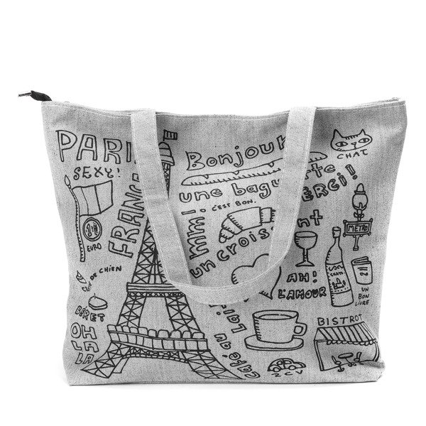 635c5a7886e9a Szara torba Paris - Torebki - Szary | Royalfashion.pl - sklep z ...