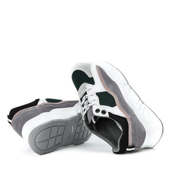 6c25a084cc505 Kliknij, aby powiększyć · Zielone buty sportowe z kolorowymi wstawkami  Osynea - Obuwie Kliknij, aby powiększyć