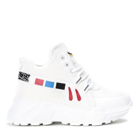 Białe buty sportowe na wyższej podeszwie Milkmade - Obuwie