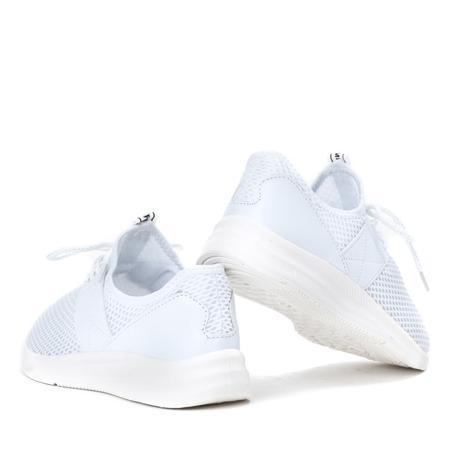 Białe buty sportowe na wyższej podeszwie Riri - Obuwie