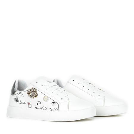 Białe buty sportowe z ozdobami Mosca - Obuwie