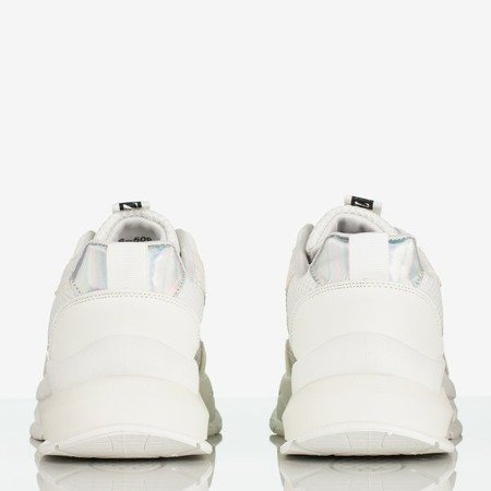 Białe damskie buty sportowe z holograficzną wstawką Super Soul - Obuwie