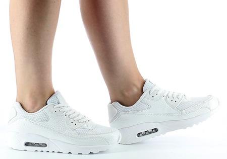 Białe damskie sneakersy Padma - Obuwie