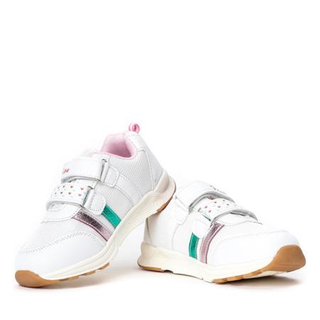 Białe dziewczęce buty sportowe Fonnie - Obuwie