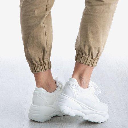Białe sneakersy damskie Street Spirit - Obuwie