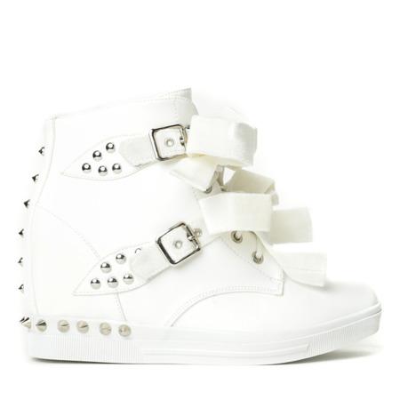 Białe sneakersy z ćwiekami Levi Obuwie Biały