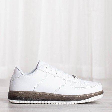 Białe sportowe buty na platformie Sinettsa - Obuwie