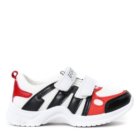 Białe sportowe dziewczęce buty Kameliane - Obuwie