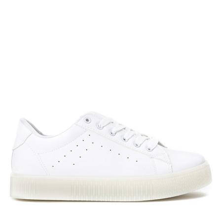 Białe tenisówki na gumowej platformie Irisa - Obuwie