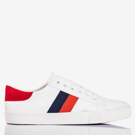 Białe tenisówki z kolorowymi paskami Dassers - Obuwie