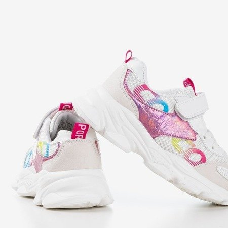 Biało - różowe dziecięce buty sportowe Narutas - Obuwie
