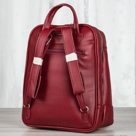 Bordowy plecak damski - Plecaki