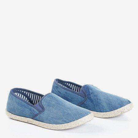 Ciemnoniebieskie damskie espadryle Meronisa - Obuwie