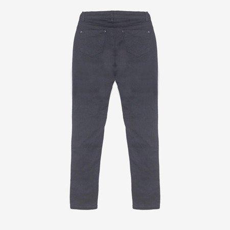 Ciemnoniebieskie spodnie jeansowe damskie - Odzież