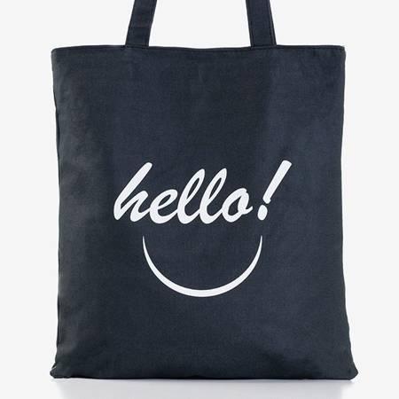 Czarna damska torba z printem - Torebki