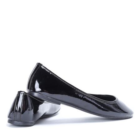Czarne baleriny lakierowane Go West - Obuwie