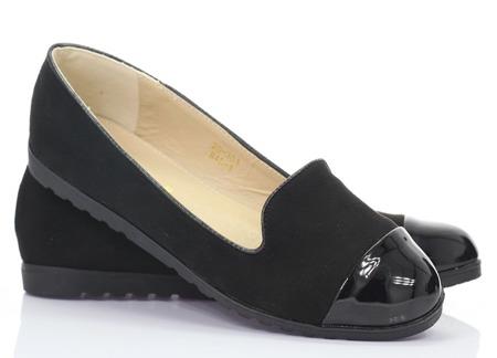 Czarne baleriny slip-on Apollina - Obuwie