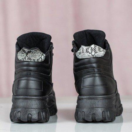 Czarne buty sportowe z wysoką cholewką Jean - Obuwie