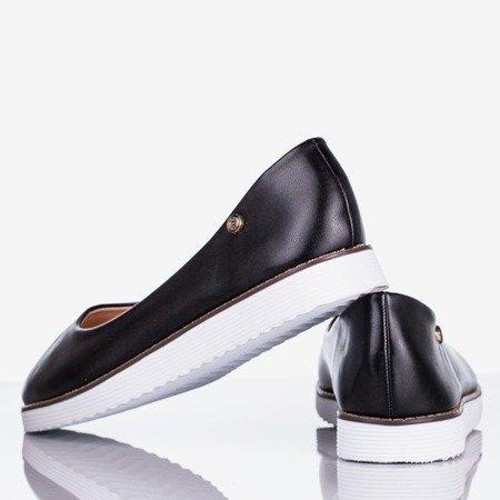 Czarne damskie baleriny Vycoriessa - Obuwie
