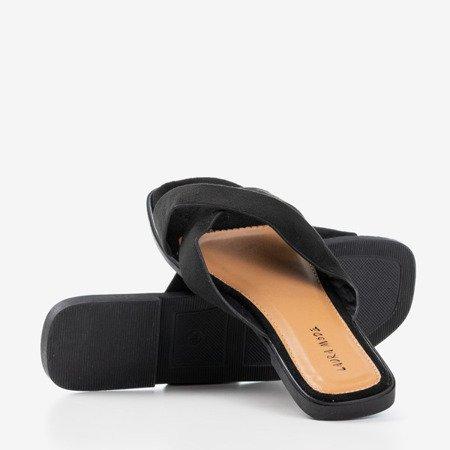 Czarne damskie klapki Kurula - Obuwie