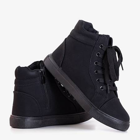 Czarne dziecięce sneakersy Bloopi - Obuwie
