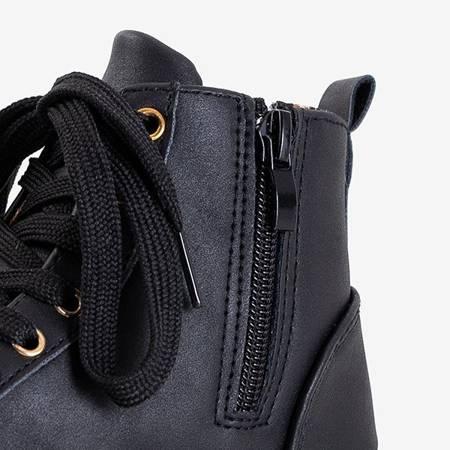 Czarne dziecięce sneakersy Pantise - Obuwie
