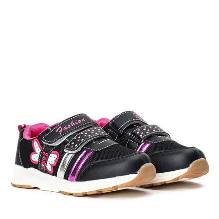 Czarne dziewczęce buty sportowe Fonnie - Obuwie