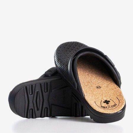 Czarne klapki chodaki Aries - Obuwie