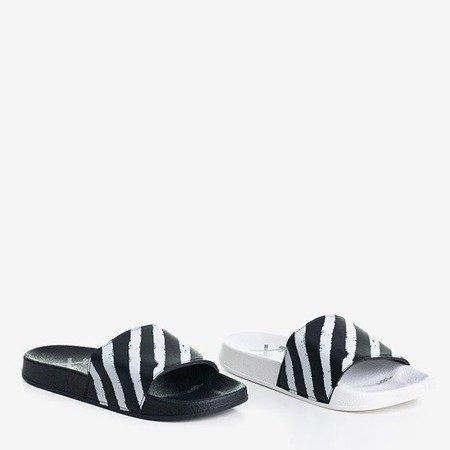 Czarne klapki gumowe Aslan - Obuwie