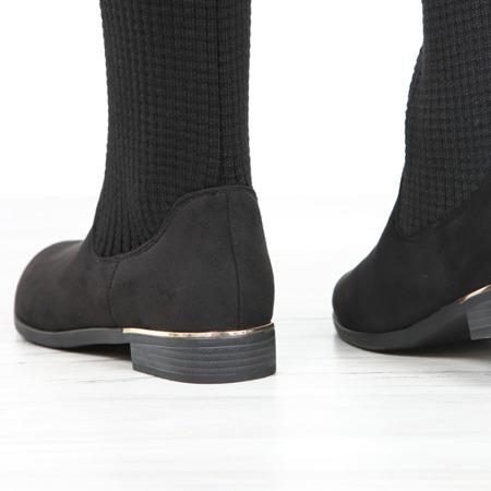 Czarne kozaki Mazikeen - Obuwie
