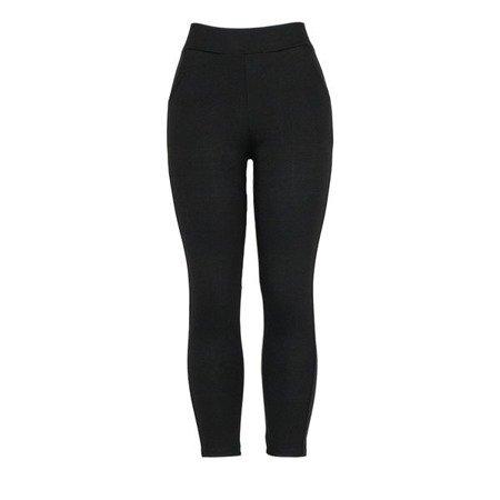 Czarne legginsy z kieszeniami - Spodnie