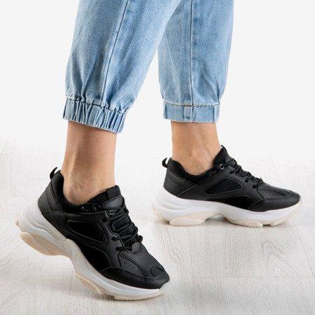Czarne sneakersy damskie Youth - Obuwie