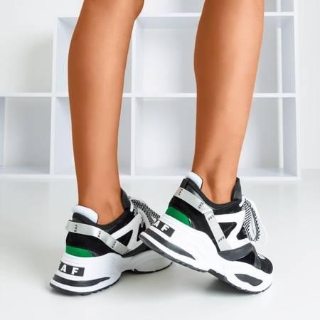 Czarne sneakersy damskie na grubej podeszwie Eafi - Obuwie