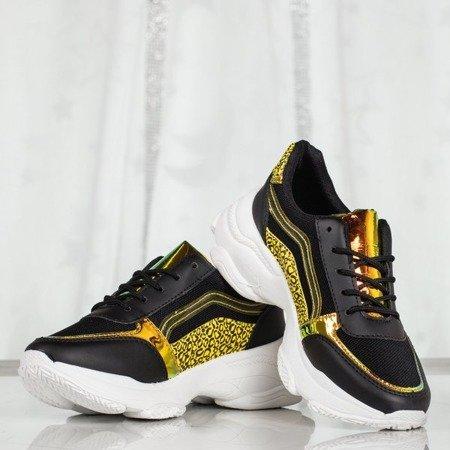 Czarne sportowe buty damskie na grubej podeszwie Siren - Obuwie