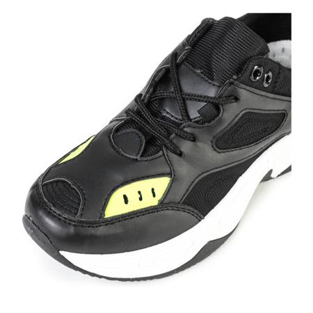 Czarne sportowe buty na grubej podeszwie Licata - Obuwie