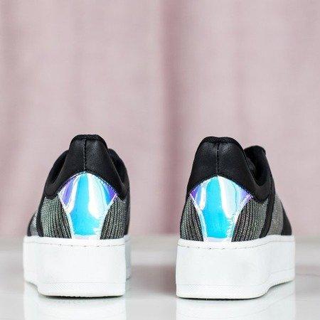 Czarne sportowe buty na platformie Salsa - Obuwie